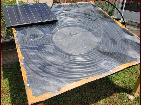 Construction of a DIY solar pool heater Pt2