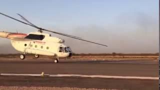 Взлет по самолетному (с разбегом по ВПП) МИ-8.Running takeoff MI-8