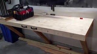 Garage Storage + Folding Workbench Update