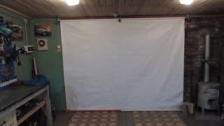 как сделать штору в гараж своими руками