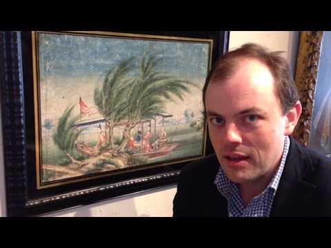 An 18th Century Chinese Watercolour Landscape - LangstonShorts Timothy Langston Fine Art & Antiques