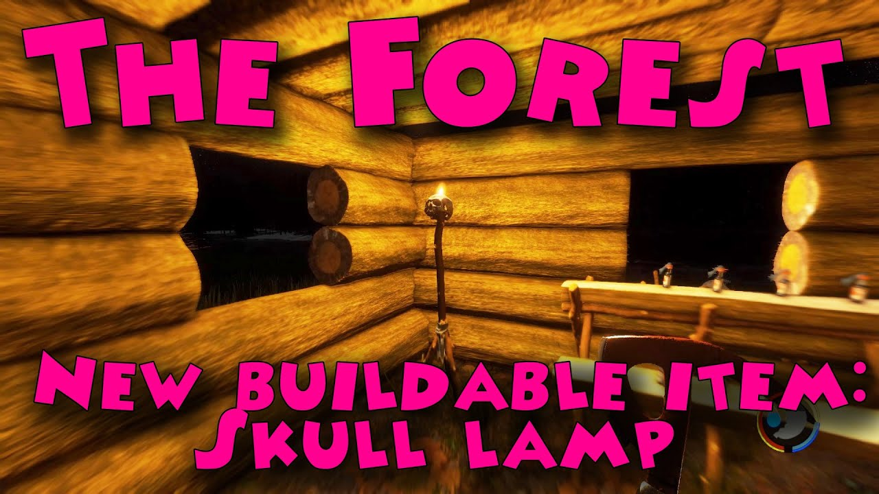 The Forest - New buildable item: Skull lamp - YouTube