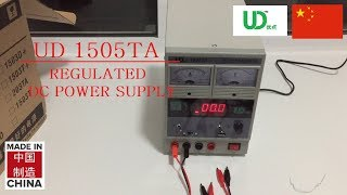 UD 1505TA REGULATED DC POWER SUPPLY  Unboxing + Test + HD Pictures