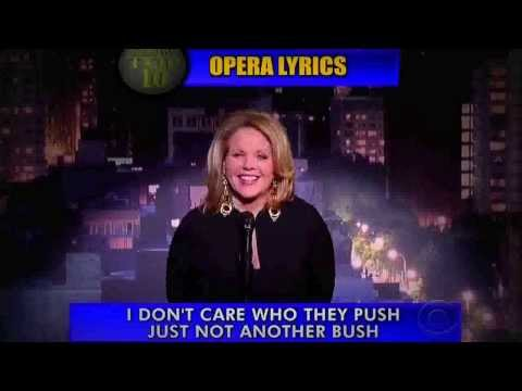 Renée Fleming Sings the Top 10 on David Letterman 2013 HD