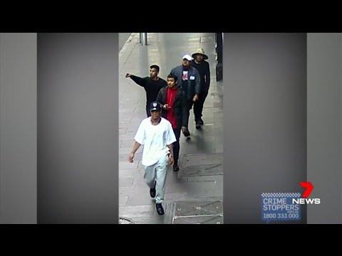 Seven + Nine News. Islander Racial Gang Attack Two Men.(Melbourne)(King Street)