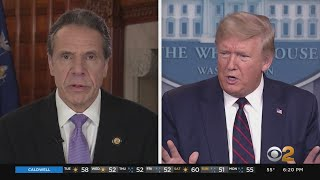 Gov. Andrew Cuomo Has 'Productive' Meeting With President Trump Regarding Coronavirus Response Gov. Andrew Cuomo described his meeting at the White House with President Trump on Tuesday afternoon as .productive.. CBS2 political reporter Marcia ..., From YouTubeVideos