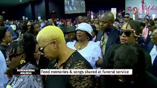 emotional performance from zahara at robbie malinga39s funeral