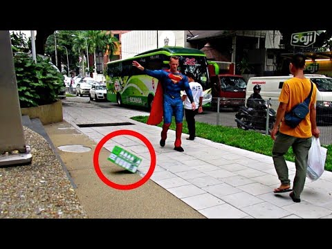 SUPERMAN INVISIBLE FORCE PRANK