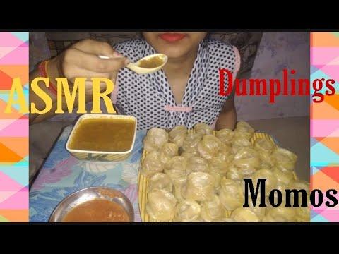 Download #ASMR #Eating Veg #Momos #Dumplings with #Chutney & Veg #MomoSoup 🍲#MUKBANG #RealSound #NepaliFood