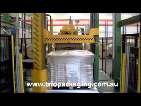 Itipack Rotating Arm Wrapper by Trio Packaging.wmv