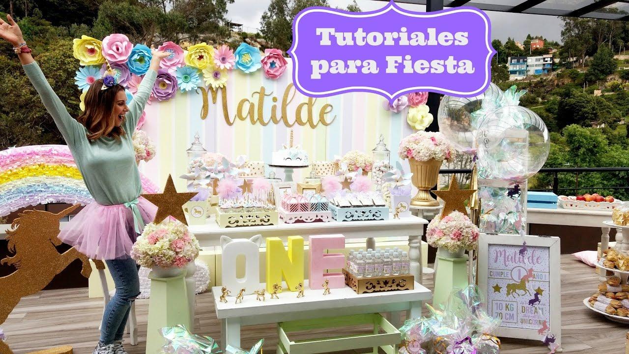 Tutoriales para fiestas penachos y flores de papel youtube - Tutoriales de decoracion ...