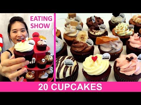20 CUPCAKES | How To Eat Cupcakes | Mukbang | Eating Show