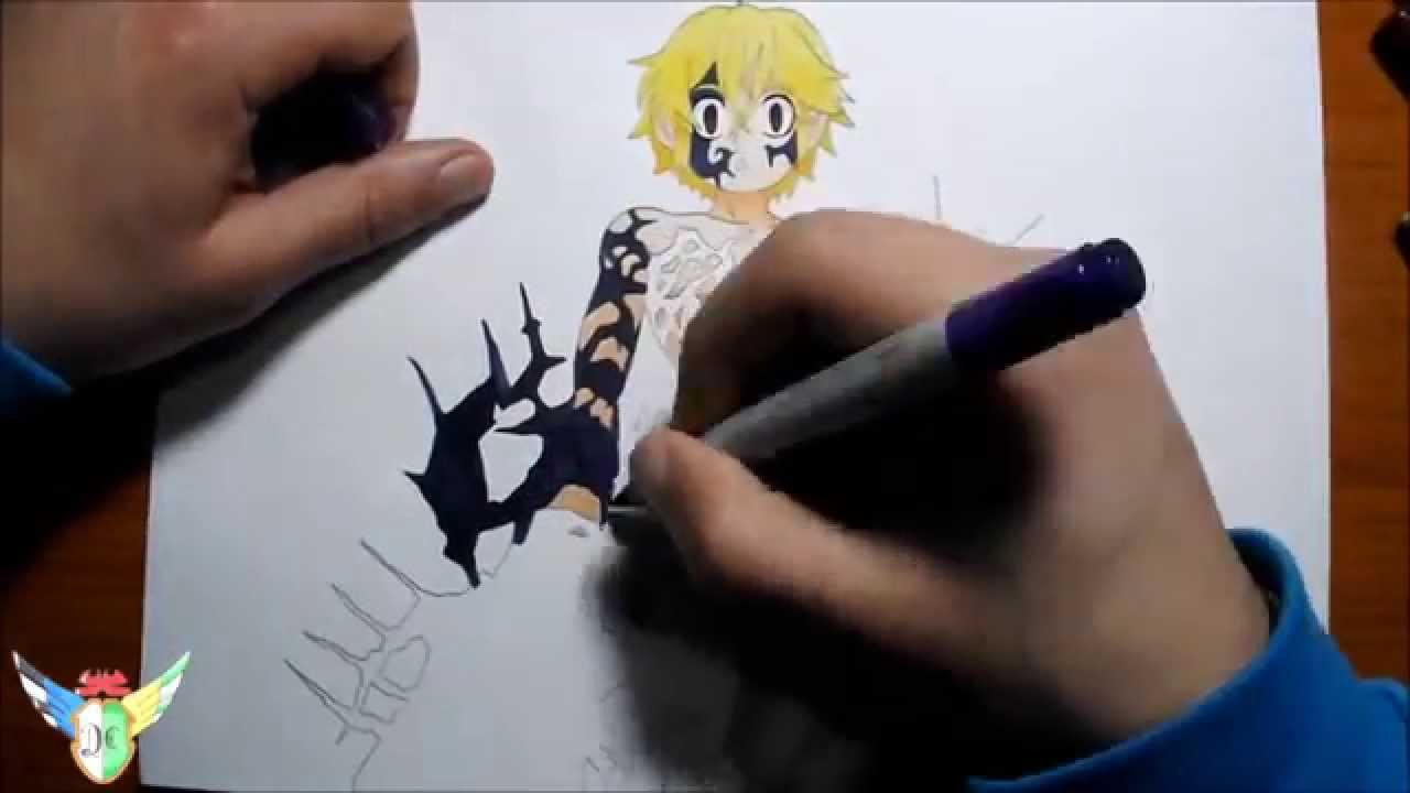 Copic Speed Draw Meliodas Demon Form From Nanatsu No Taizai