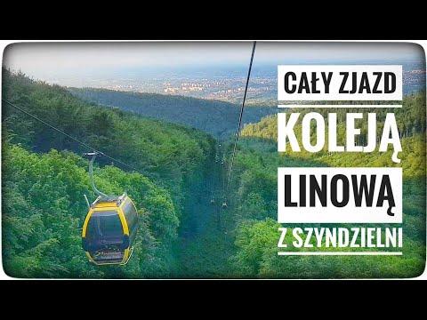 Kolejka Linowa Szyndzielnia - Bielsko-Biała - Cały Przejazd