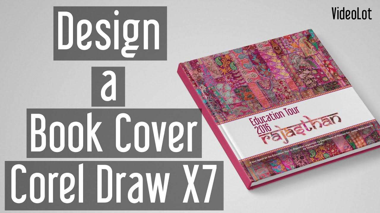 Book Cover Design Hd ~ Corel draw design a book cover tutorial youtube