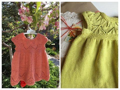 Платье вязаное спицами для девочки с описанием