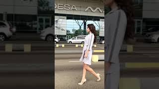 P 1072 Платье коктейльное на запах video