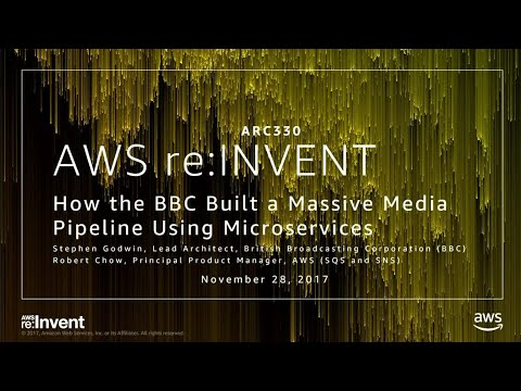 AWS re:Invent 2017: How the BBC Built a Massive Media Pipeline Using Microservices (ARC330)