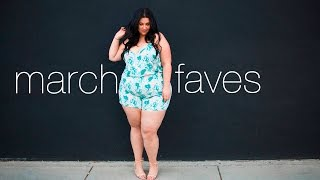 MARCH 2017 MONTHLY FAVES | Plus size fashion, beauty & more!