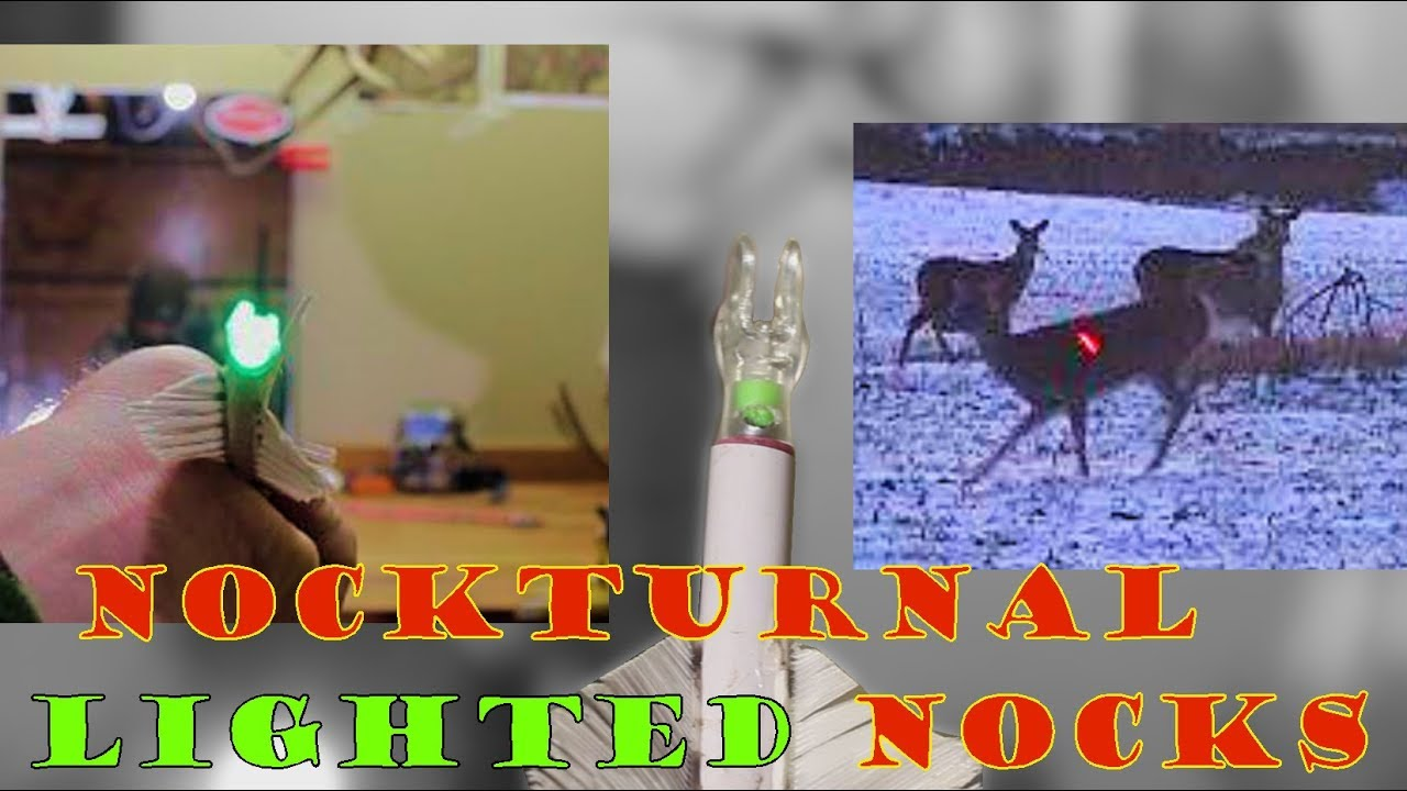 Nockturnal Lighted Nocks Red Green And Strobe Deer Hunting