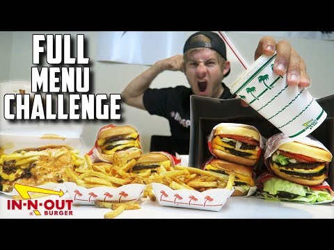 "SUPERCHARGED IN N' OUT ""SECRET"" MENU CHALLENGE! (10,000+ Calories)"