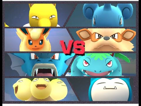 Pokémon GO Gym Battles taking over 4+ gyms Venusaur Arcanine Lapras Snorlax & more!