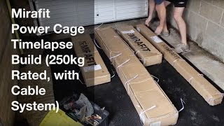 Mirafit Power Cage Timelapse Build 250kg Rated, with Cable System