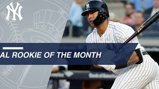 Gleyber Torres named AL Rookie of the Month for May