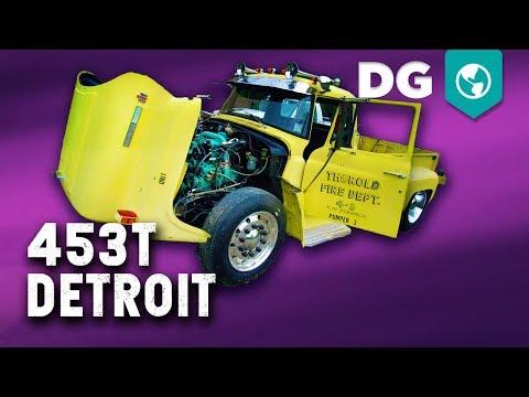 AIR START! 453T Detroit Diesel in a 77 International Loadstar 1800