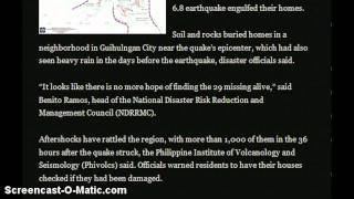 BLIND FAULT CAUSED EARTHQUAKE IN PHILIPPINES!