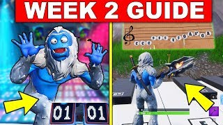 Fortnite WEEK 2 CHALLENGES GUIDE! – DANCE OFF AT AN ABANDONED MANSION, MUSIC SHEET PIANO LOCATIONS