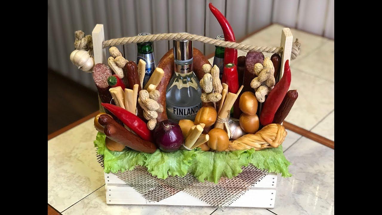 Вкусный подарок для Мужчин - Пивная корзина! Идея оформления.