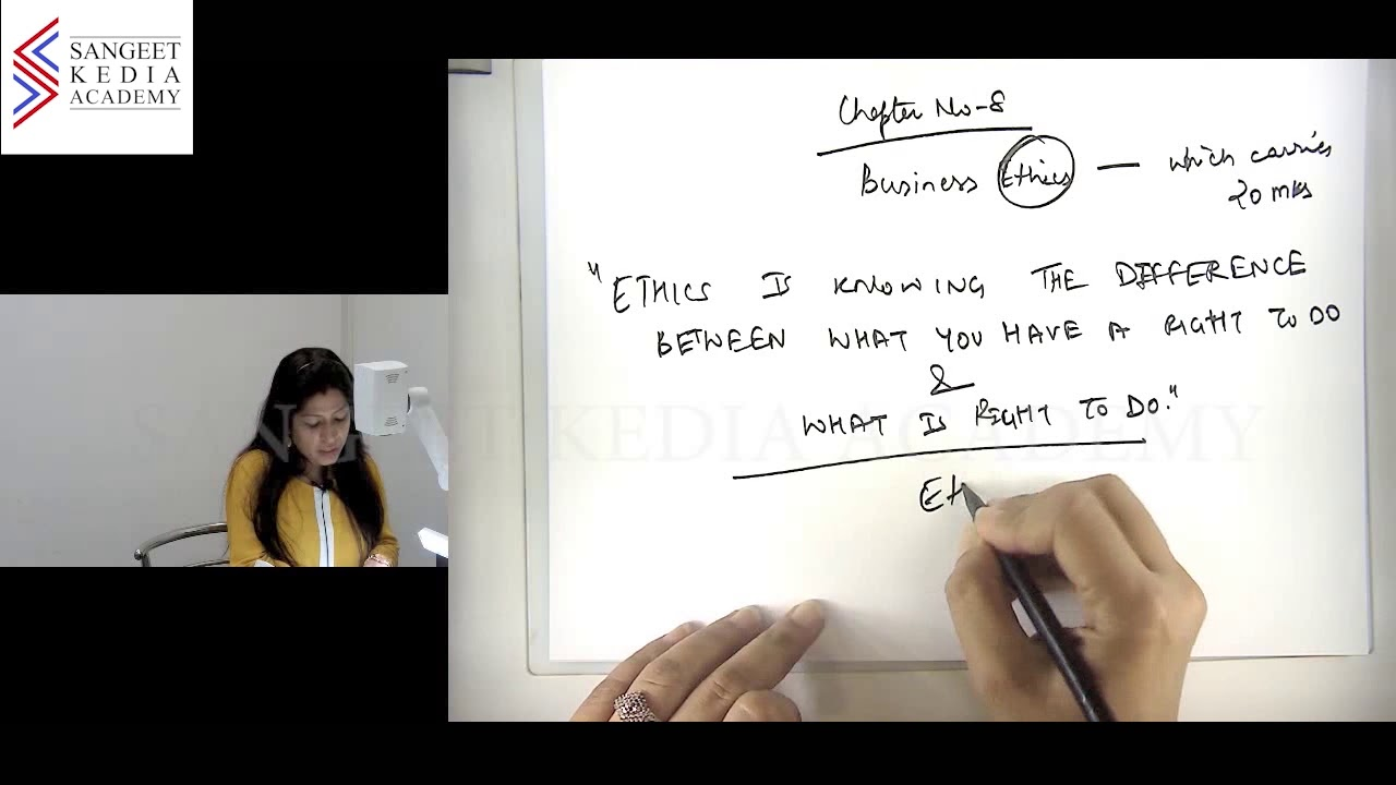 Business Ethics of CS Foundation By Ms  Sonali Sharma