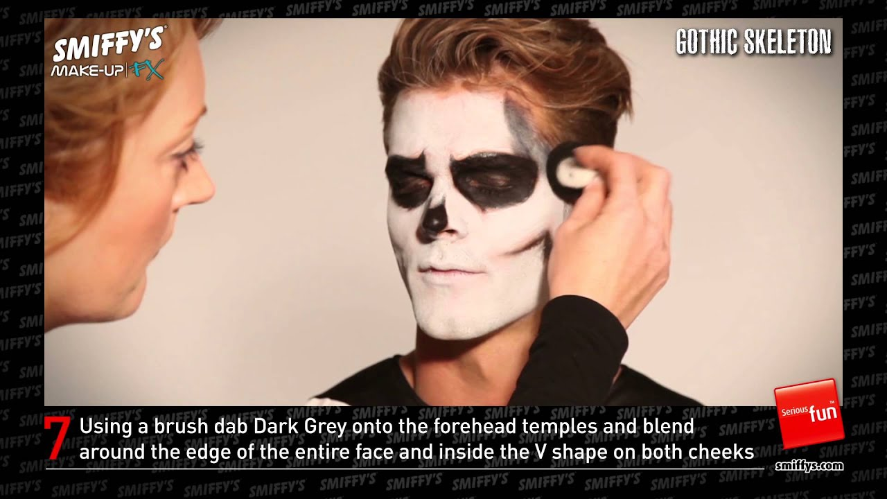 sc 1 st  YouTube & Gothic Skeleton Face Painting Make-up Tutorial - YouTube