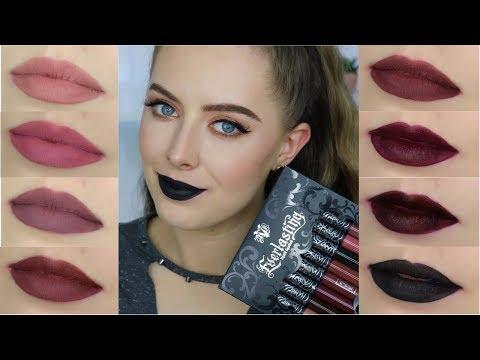 Kat Von D Everlasting Mini Liquid Lipstick Set | Lip Swatches & Review | Beauty District