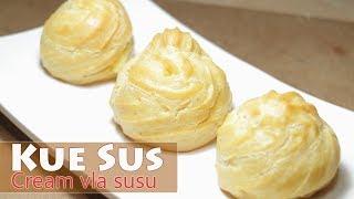 Gambar cover Cara Membuat Resep Kue Sus isi Cream Fla Susu Homemade | Dapur Sekilas Info