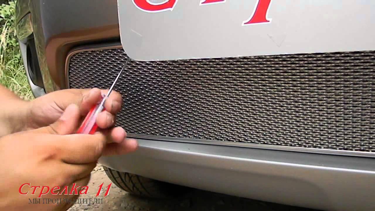 Защита радиатора Premium для RENAULT KOLEOS 2012 (Хром) - strelka11.ru