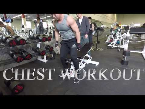 CHEST WORKOUT 150 lb dumbbell press challenge New Exercises