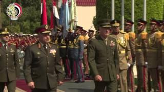 بالفيديو.. وزير الدفاع و«حجازى» يلتقيان رئيس هيئة الأركان المشتركة الأمريكية
