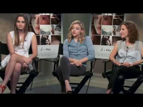 If I Stay  Interview w  Chloe Grace Moretz, Liana Liberato & Gayle Forman