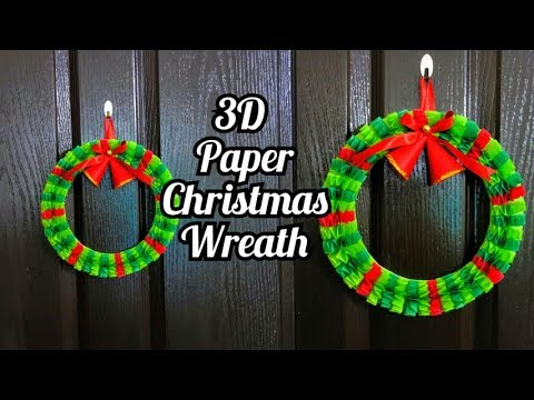 How to make Paper Wreath | Christmas Decorations |  DIY Christmas Wreath | Easy Paper Holiday craft