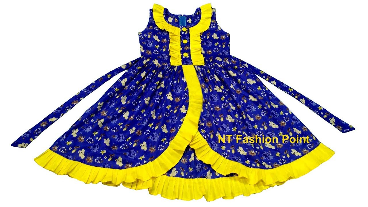 31953dd6 Beautiful & simple kids summer baby girls frocks designs | Cutting &  Stitching