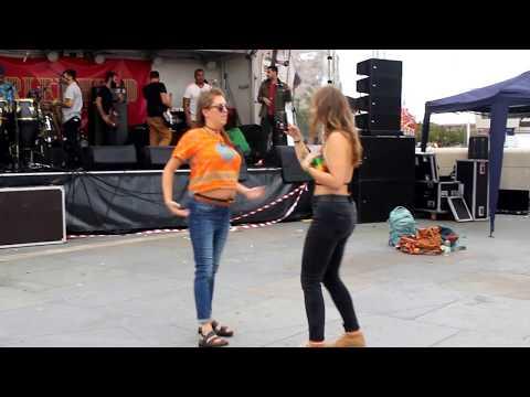 Drunk Girl Dancing THE CONGA - EPIC FAIL!!! | Brazilica 2017 | Amazing Latin Music | Festival Vlog