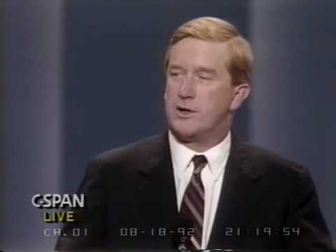 Governor Bill Weld speaking at the RNC in 1992.
