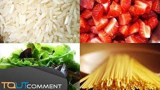 Les aliments qui font baisser l