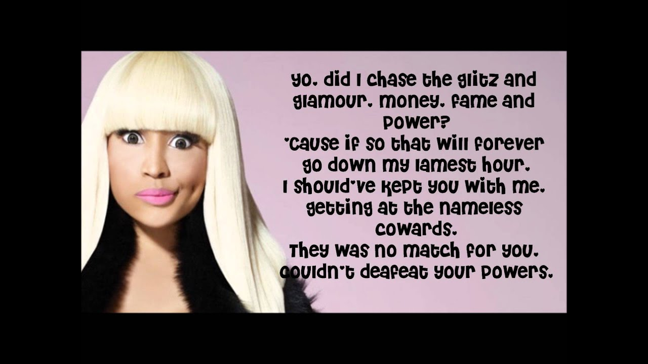 Old enough lyrics nicki minaj