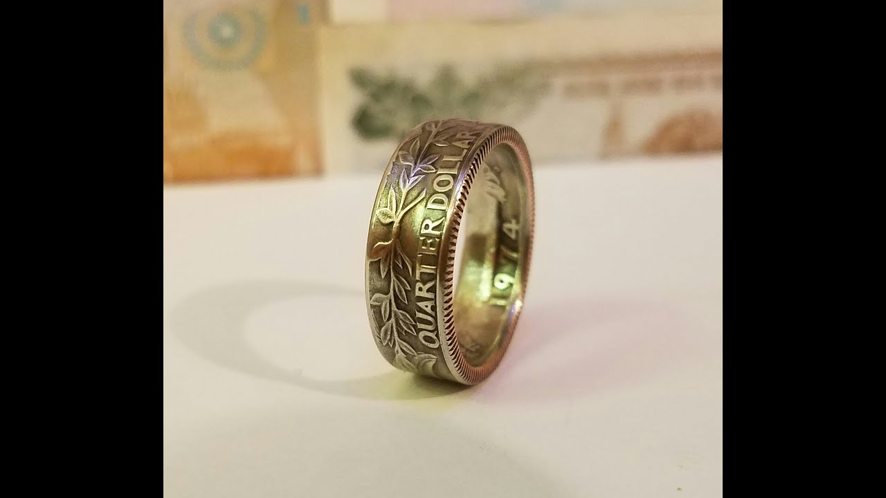 How to Make a Nice Coin Ring Without an Expensive Ring Sizer - YouTube