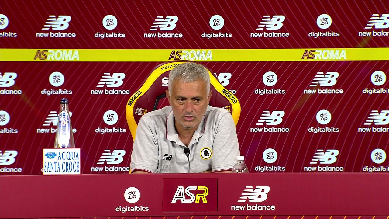Conferenza stampa di Mourinho prima di Roma-Trabzonspor