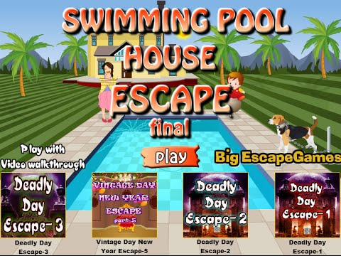 swimming pool house escape final walkthrough bigescapegames youtube