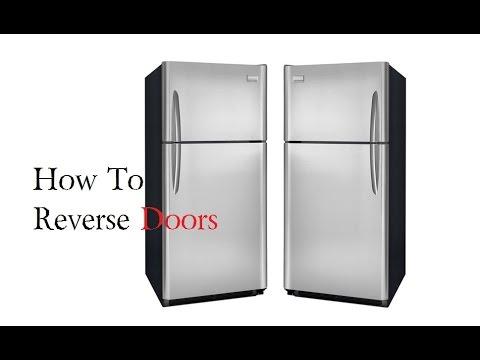 sc 1 st  YouTube & How to Reverse Fridge Doors Frigidaire Refrigerator - YouTube